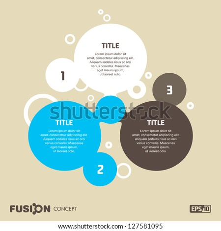Abstract background for presentations, fusion concept
