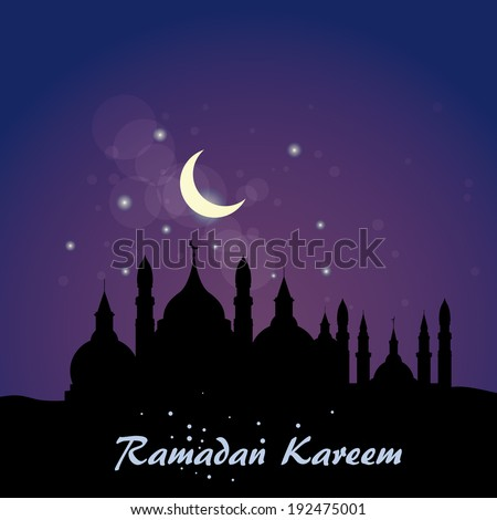 Abstract background for Ramadan Kareem, vector illustration - stock vector