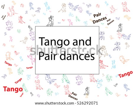 abstract background for Tango and partner dancing. Use tickets, invitations, documents. Dancing couples, waltz, tango. Dancing couples, men and women