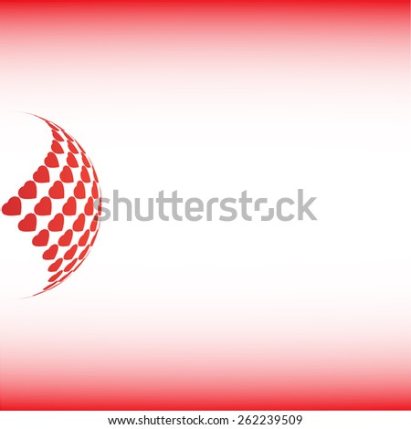Abstract background for your text and logo - stock vector illustration. Hearts. Red color   - stock vector