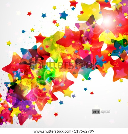 Abstract background forming by watercolor paint splashes. - stock vector
