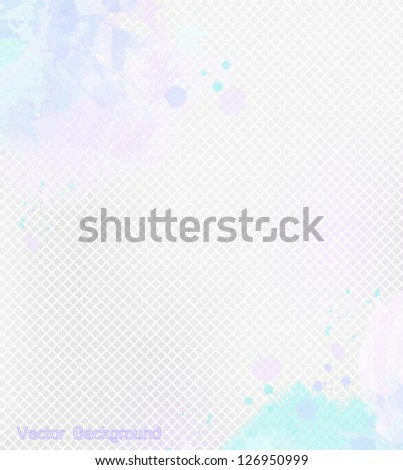abstract background from a mosaic with paint splashes - stock vector
