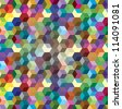 Abstract background from color cubes, illustration - stock vector