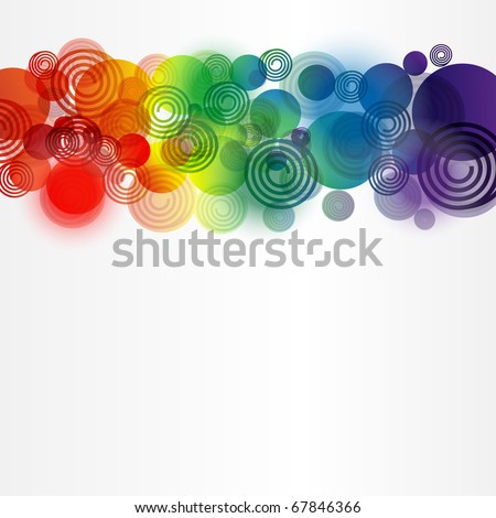 Abstract background from different elements - stock vector