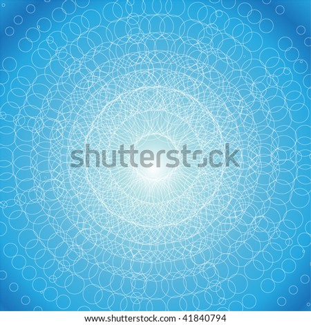abstract background from small circles - stock vector