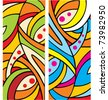 Abstract background geometric art nouveau colorful pattern - stock vector