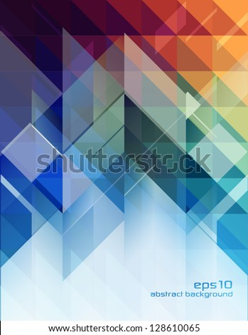Abstract Background - Geometric Design Elements - stock vector