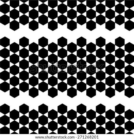 Abstract background, geometric hexagon seamless pattern - stock vector