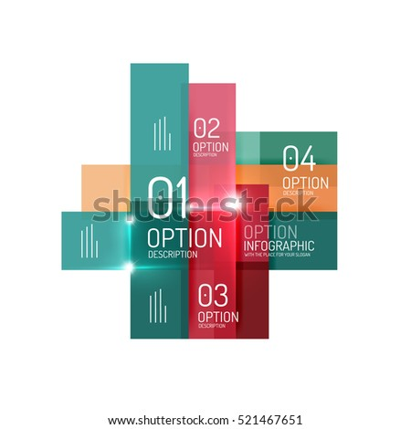 Abstract background, geometric infographic option templates. Vector colorful business presentation or data brochure layouts with sample text