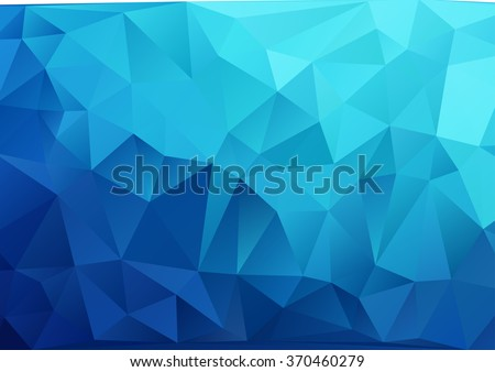 Abstract background, geometric pattern, geometric shapes, geometric art, geometric background, mosaic pattern, geometric abstract, graphic design, blue, vector art - stock vector