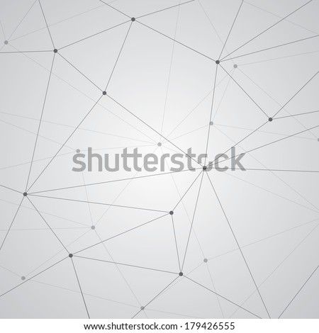 Abstract background, geometry, lines and points - stock vector