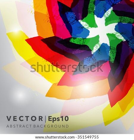Abstract background. Glossy and colorful on the white panel. Use for template, brochure design. Vector illustration. Eps10. - stock vector