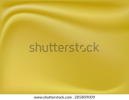 Abstract background golden silk, waves, vector illustration.