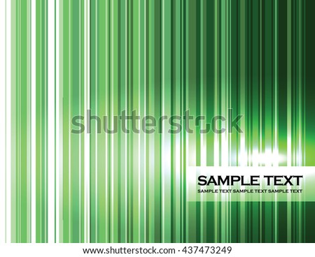 Abstract Background. Green Shiny Stripes. - stock vector