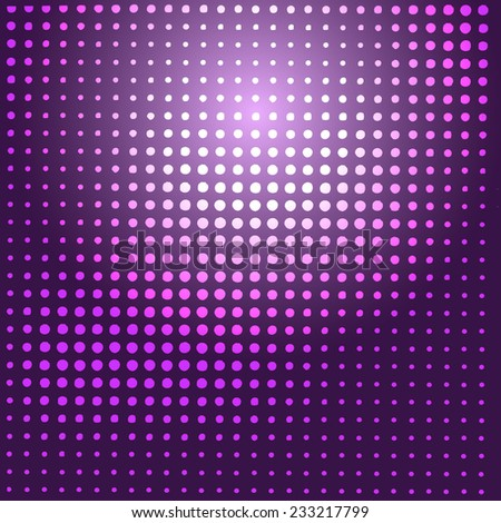 Abstract background. Halftone dots background. Disco lights. Vector illustration. - stock vector
