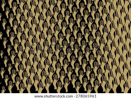 """Abstract background """"Hands"""" in Escher style and an optical effect - stock vector"""