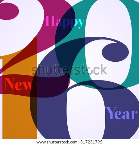 Abstract Background - Happy New Year 2016 - stock vector