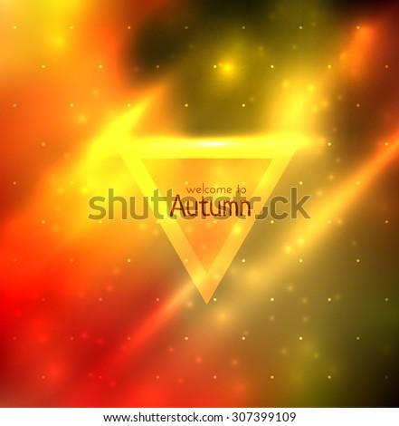 Abstract background in autumn color scheme. Vector eps10. - stock vector