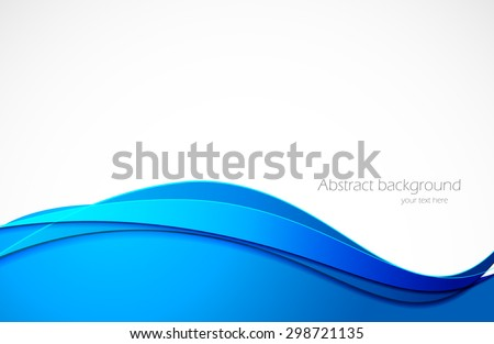Abstract background in blue color vector modern illustration - stock vector