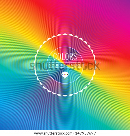 Abstract background in colorful circles blending. - stock vector