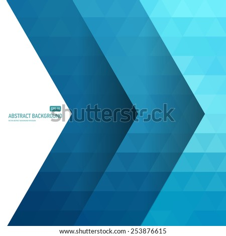 Abstract background in geometric polygonal style. - stock vector