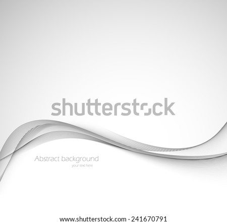 Abstract background in gray color with wavy lines - stock vector