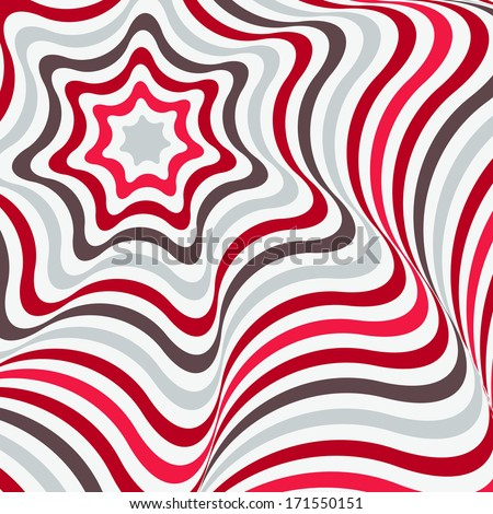 Abstract background in Opt Art style. Vector illustration. - stock vector