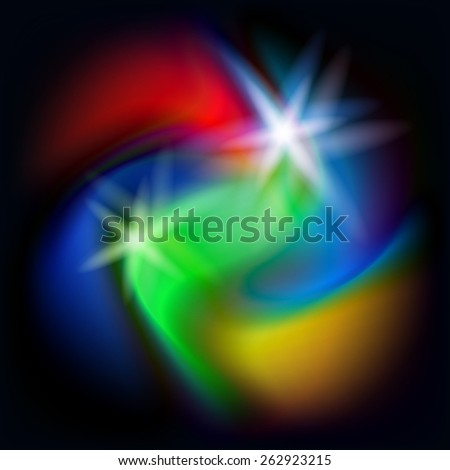 Abstract background in the form of a swirl of colored spots. Vector illustration - stock vector