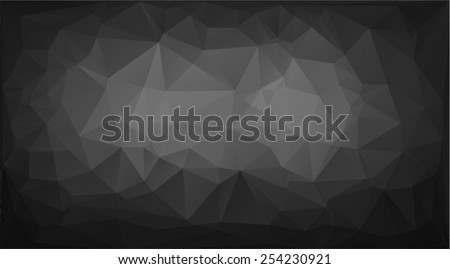 Abstract background in the style of Cubism. Black vector wallpaper - stock vector