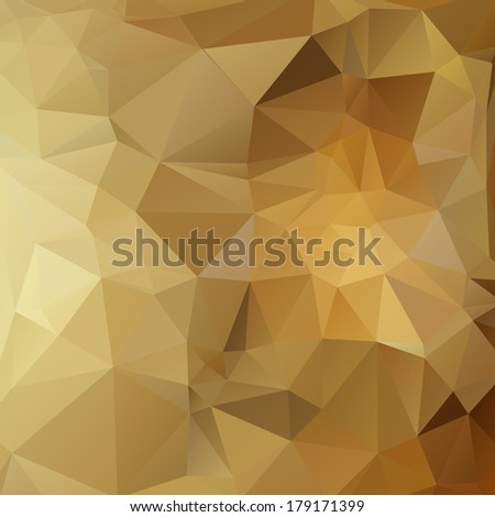 Abstract background in the style of cubism. Golden vector background - stock vector
