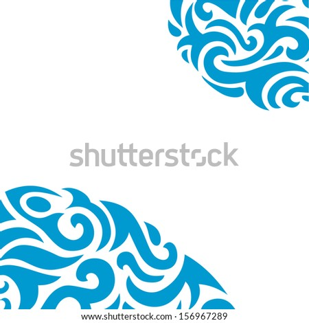 Abstract Background in Tribal Style for your own design.