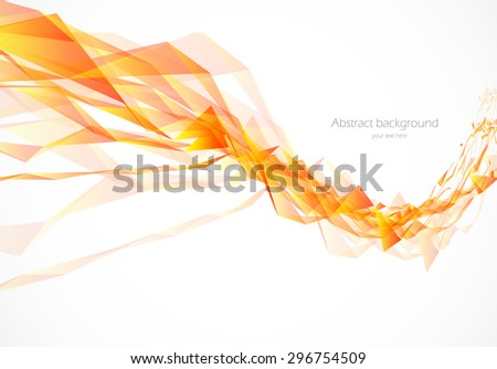 Abstract background in wavy style with polygons vector illustration - stock vector