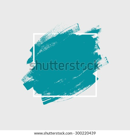 Abstract background. Ink brush strokes with rough edges. Dry brush illustration. - stock vector