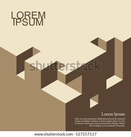 Abstract backgroundisometric cover design architecture book stock abstract backgroundisometric cover design architecture book business backgrounds with trendy design ccuart Gallery
