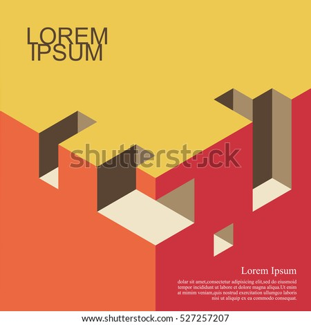 Abstract background isometric cover design architecture book stock abstract backgroundisometric cover design architecture book business backgrounds with trendy design ccuart Choice Image