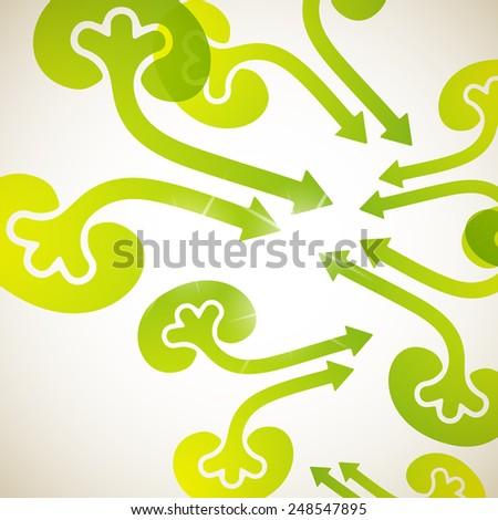 abstract background: kidneys - stock vector