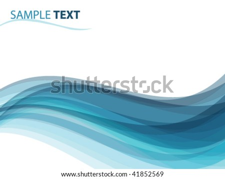 abstract background like ocean waves, vector illustration - stock vector