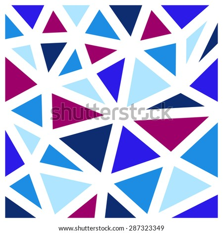 Abstract background made from blue triangles - stock vector