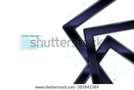 abstract background metallic aluminum steel texture frame design template - stock vector