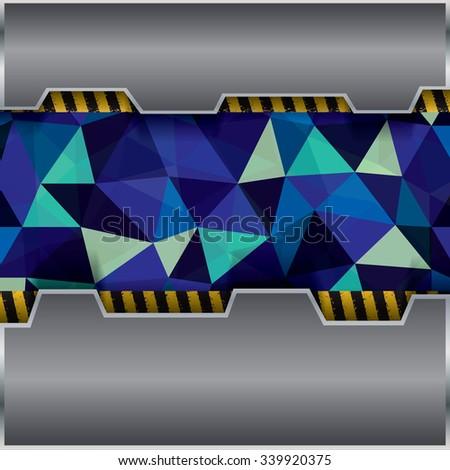 Abstract background, metallic brochure, vector - stock vector