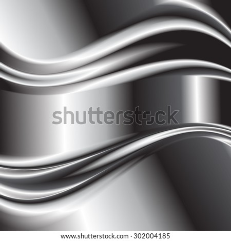 Abstract background metallic silver banners vector 2 - stock vector