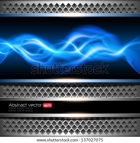 Abstract background, metallic with power concept. - stock vector