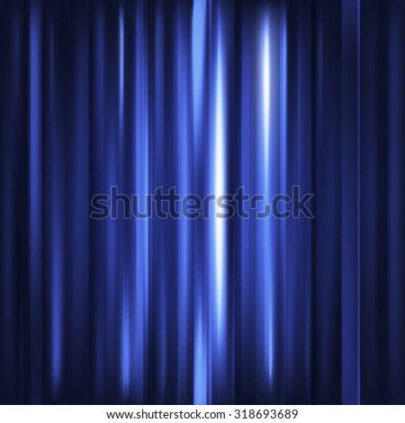 Abstract background. Motion blue vertical lines. Vector technology backdrop for cover magazine, banner, catalog, web and advertisement. Energy and power