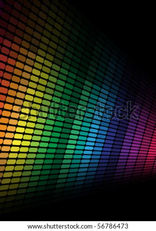Abstract Background- Multicolor Equalizer - stock vector
