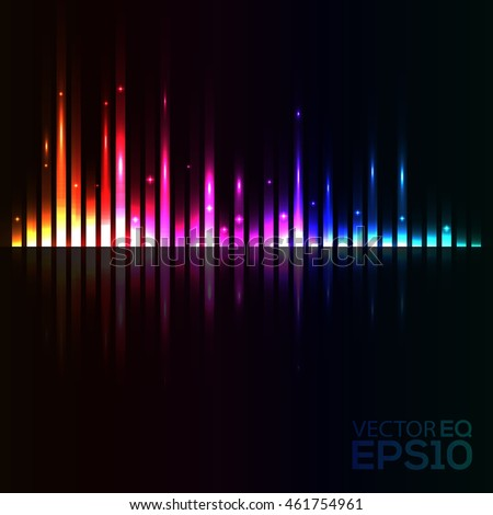 Abstract Background. Music Equalizer. Colorful Light Lines. Vector Illustration
