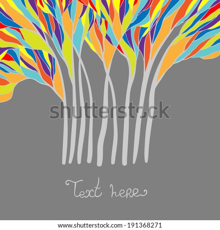 Abstract background. Nature theme.  - stock vector