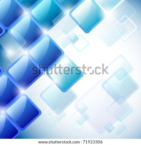 Abstract background of blue squares. Eps10 vector - stock vector