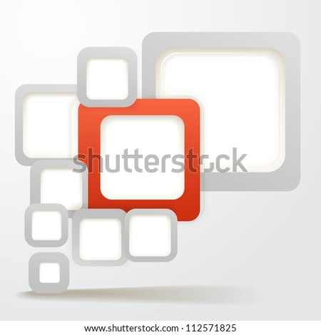 Abstract Background of boxes with blank area for any content - stock vector