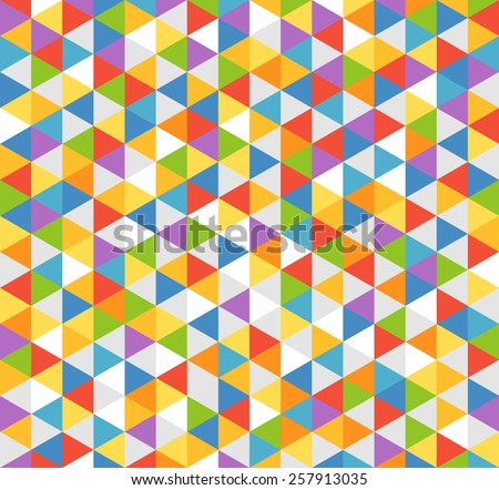 Abstract background of color triangles - stock vector