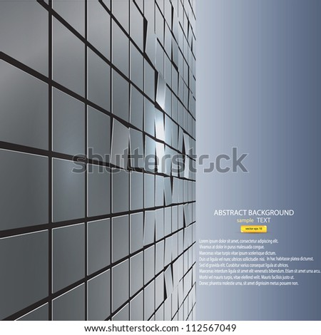 abstract background of cubes. Vector - stock vector